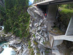 Felsinstabilität N13 Grüne Brücke, Splügen