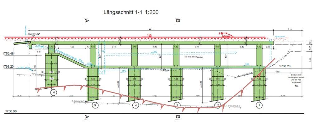 Lehnenkonstruktion Argenteri Bahnhof St. Moritz