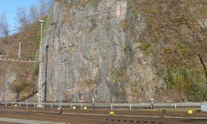 Verankerte Felswand Hanegg, Ziegelbrücke