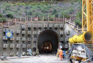 N28 Sicherheitsstollen Tunnel Chlus